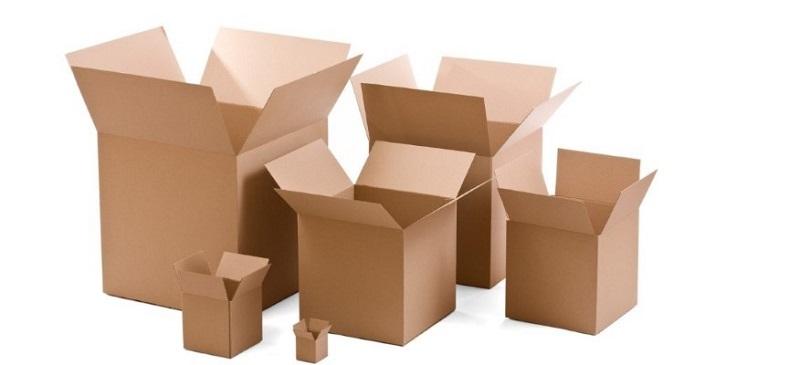 Kartonnen dozen om in te pakken